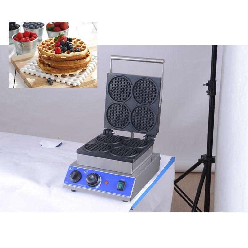 Antiadhésif Mini Waffle en acier inoxydable Maker machine 110v 220v ronde électrique Egg gaufrier Pan Four CE La ferronnerie Approuvée