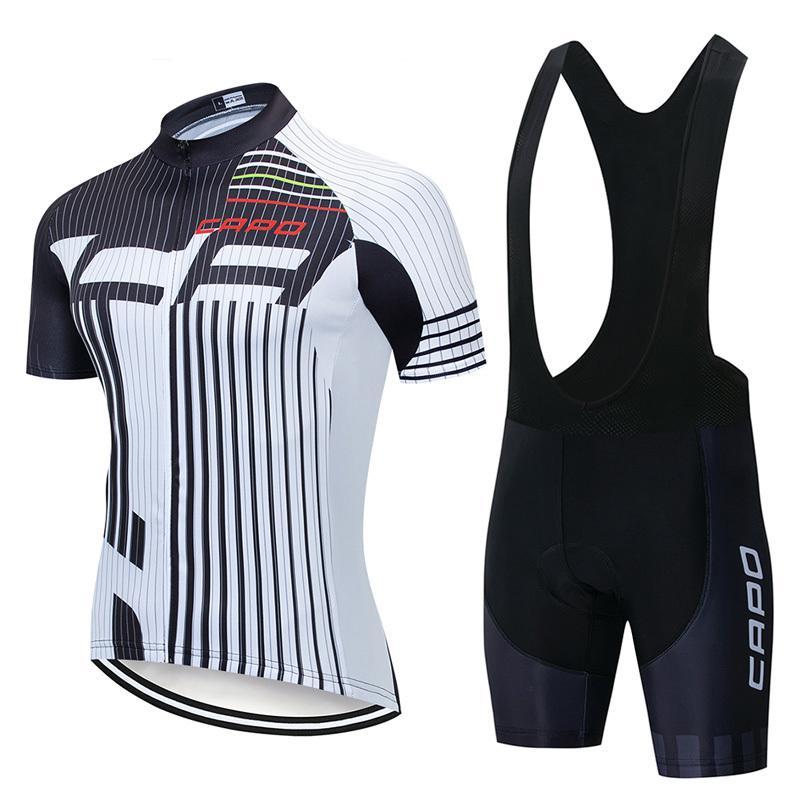 Takım Capo Yaz Bisiklet Giyim Nefes Bisiklet Jersey Bisiklet Gömlek Önlüğü Şort Takım Elbise Erkek Mtb Yarışı Spor Ropa Ciclismo