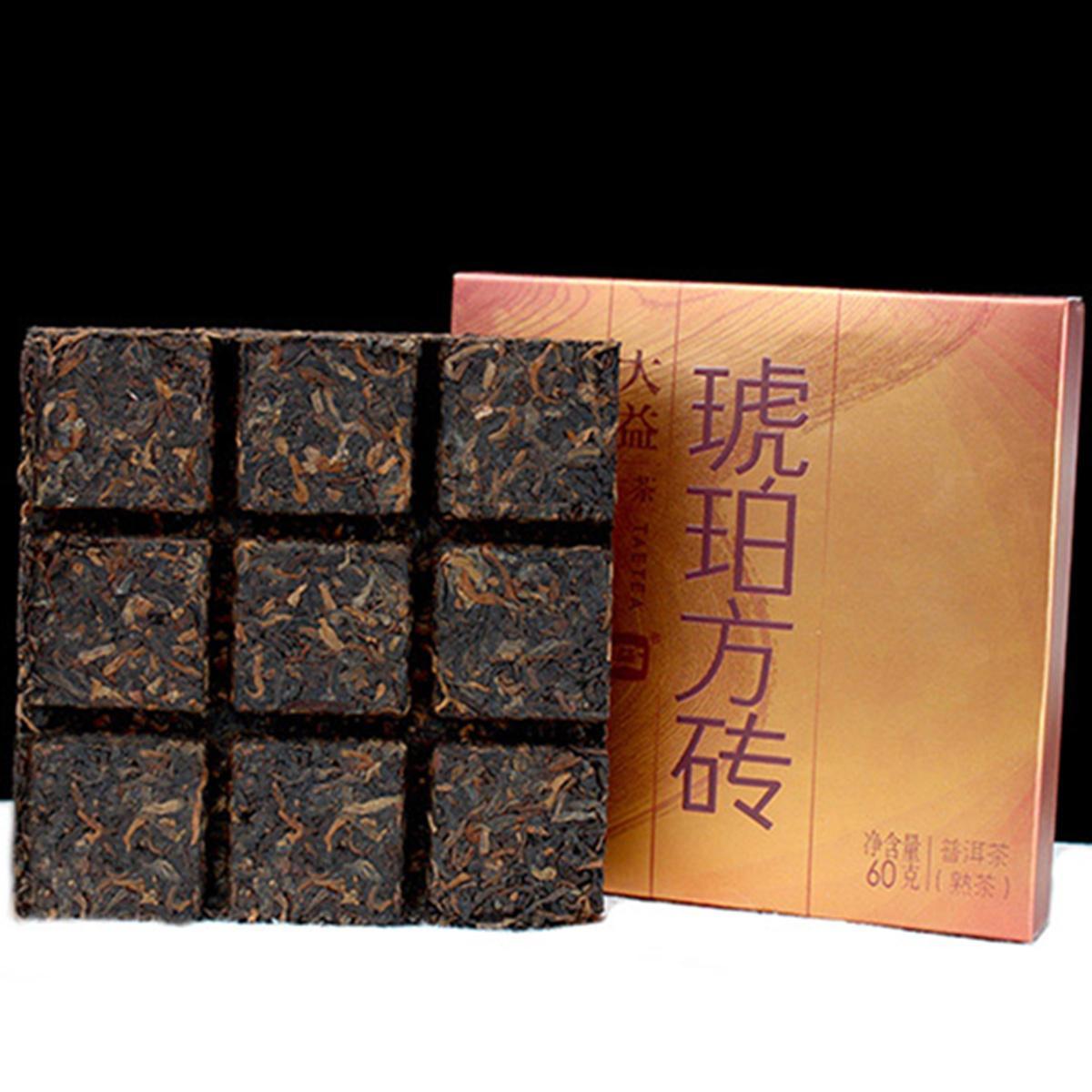 Горячие продаж 240G Зрелый пуэр чай Yunnan HUPO Amber пуэр чай Кирпич Organic Natural Pu'er старое дерево Приготовленный пуэр черный Пуэр чай