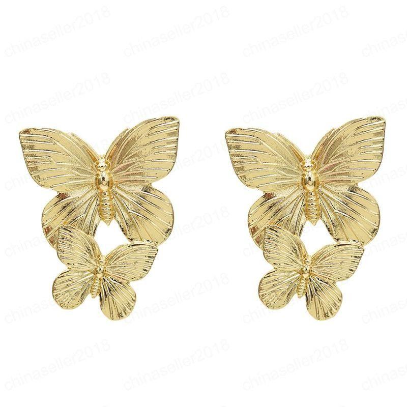 Modische neue Schmetterling Ohrringe Die gleichen Stil Ohrringe auf den europäischen und amerikanischen Straßenart und weise Ohrringe