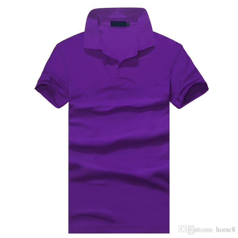 vestuário Top New pólo dos homens camisa pólo Homens Cavalo pequeno bordado Business casual sólida masculina manga curta camisa pólo respirável
