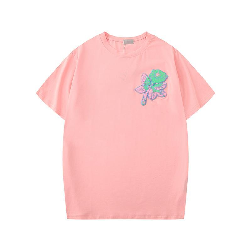 Повседневная летняя дизайнерская футболка женщины бренд топы футболки Леди роскошная пляжная одежда с коротким рукавом тройники отпуск свободные футболки S-XXL