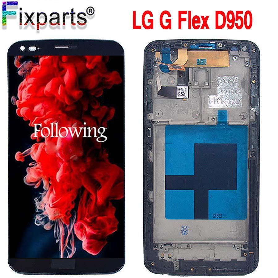 "6.0 ""Per LG G Flex D950 LCD 100% Test con telaio D955 LS995 D958 LCD Touch Screen Digitizer Assembly di ricambio per LG G LS995"
