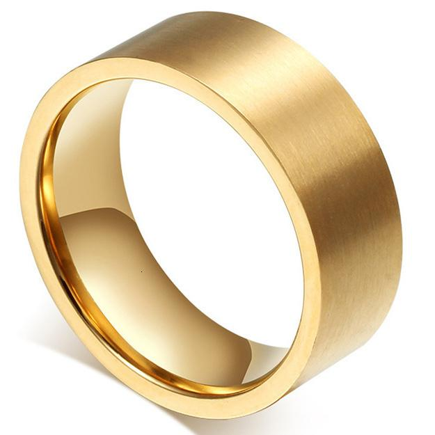 18KGP Titanio Acciaio Finger Partito anelli da uomo nozze gioielli uomini di modo Anelli di fidanzamento