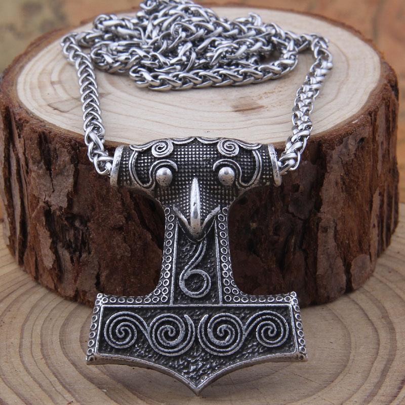 dropshipping 1pcs Collana norreno Vikings Valknut Raven RUNE ciondolo con catena in acciaio inossidabile