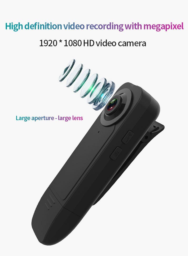 A18 Mini Video Camera 1080 HD Night Vision Mini DV DVR Camcorder Back Clip Miniature Motion Detection camera Dashcam Webcam