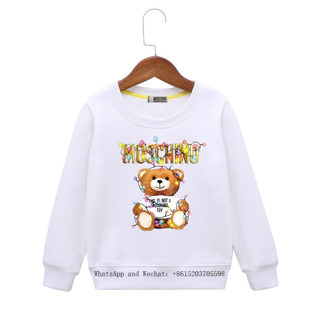 2019 Dress New Pattern Ragazzi felpa con cappuccio versione coreana di Stripe Sleeve Head In Children Cartoon Tide Of Clothing