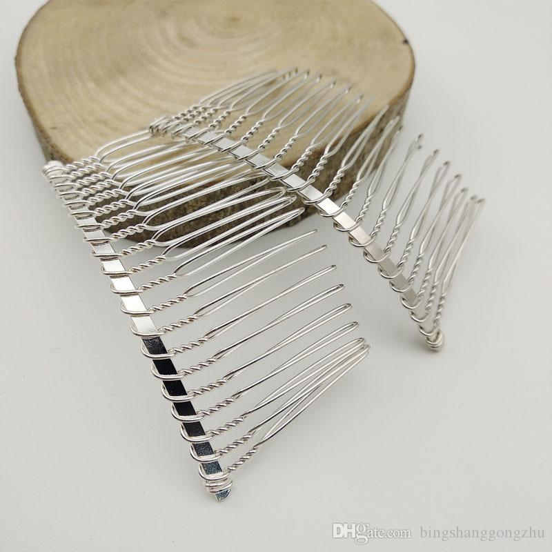 Metal Blank Hair Comb DIY Bridal Comb Silver Gold Twisted Wire Comb Wedding Veil Hair Accessory