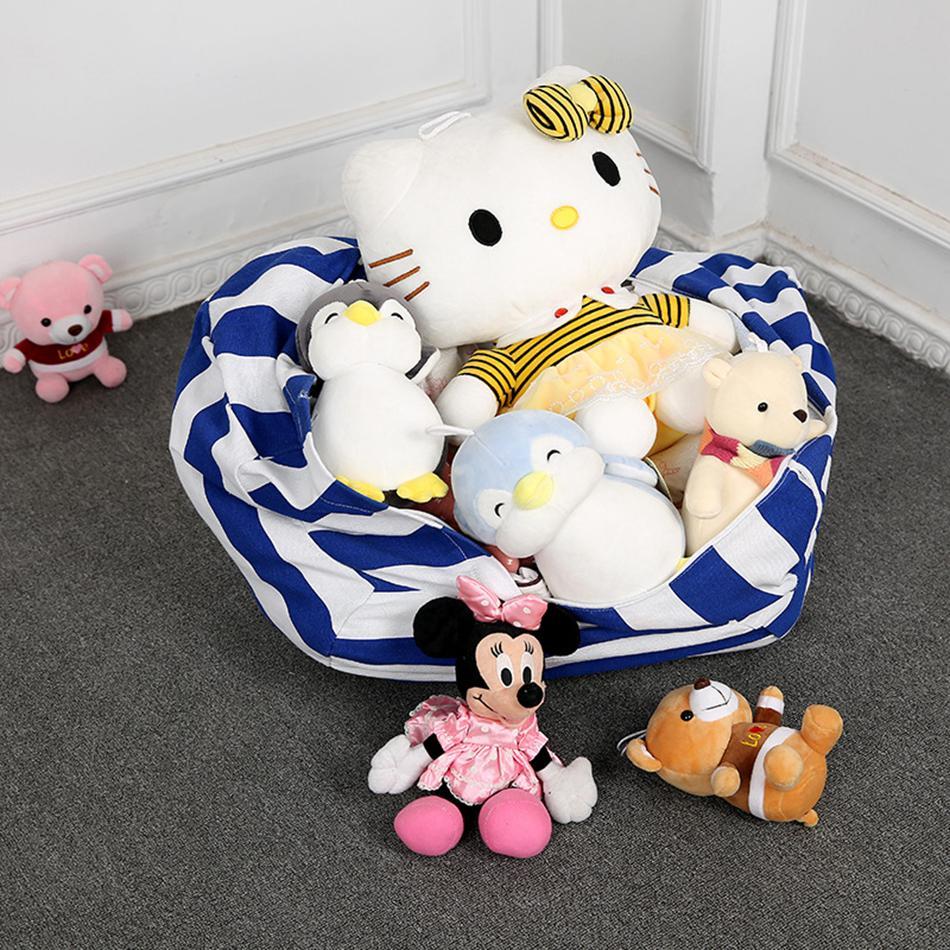 24inch Crianças Armazenamento sacos de feijão Plush Toys Beanbag Chair Stuffed Animal Quarto Mats portáteis roupa Storage Bag Organizador LJJA3580 bolsa