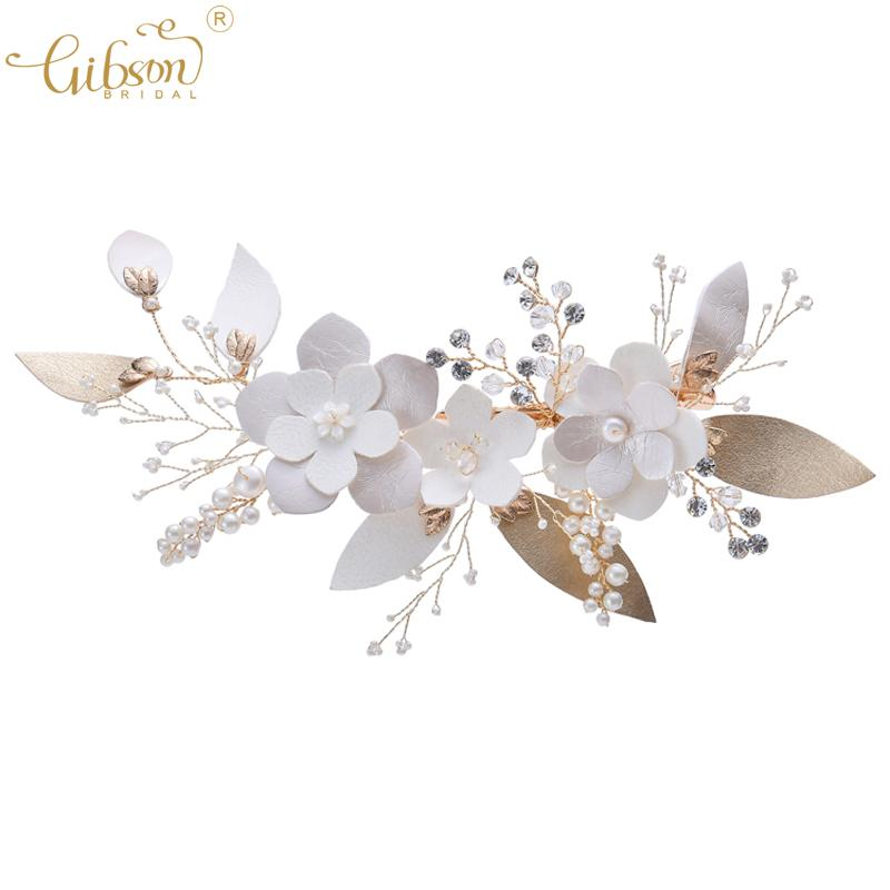New Bridal Barrette Pearl and Flower Decoration Wedding Hair Clip Headband Party Dress Hair Side Clip Jewelry