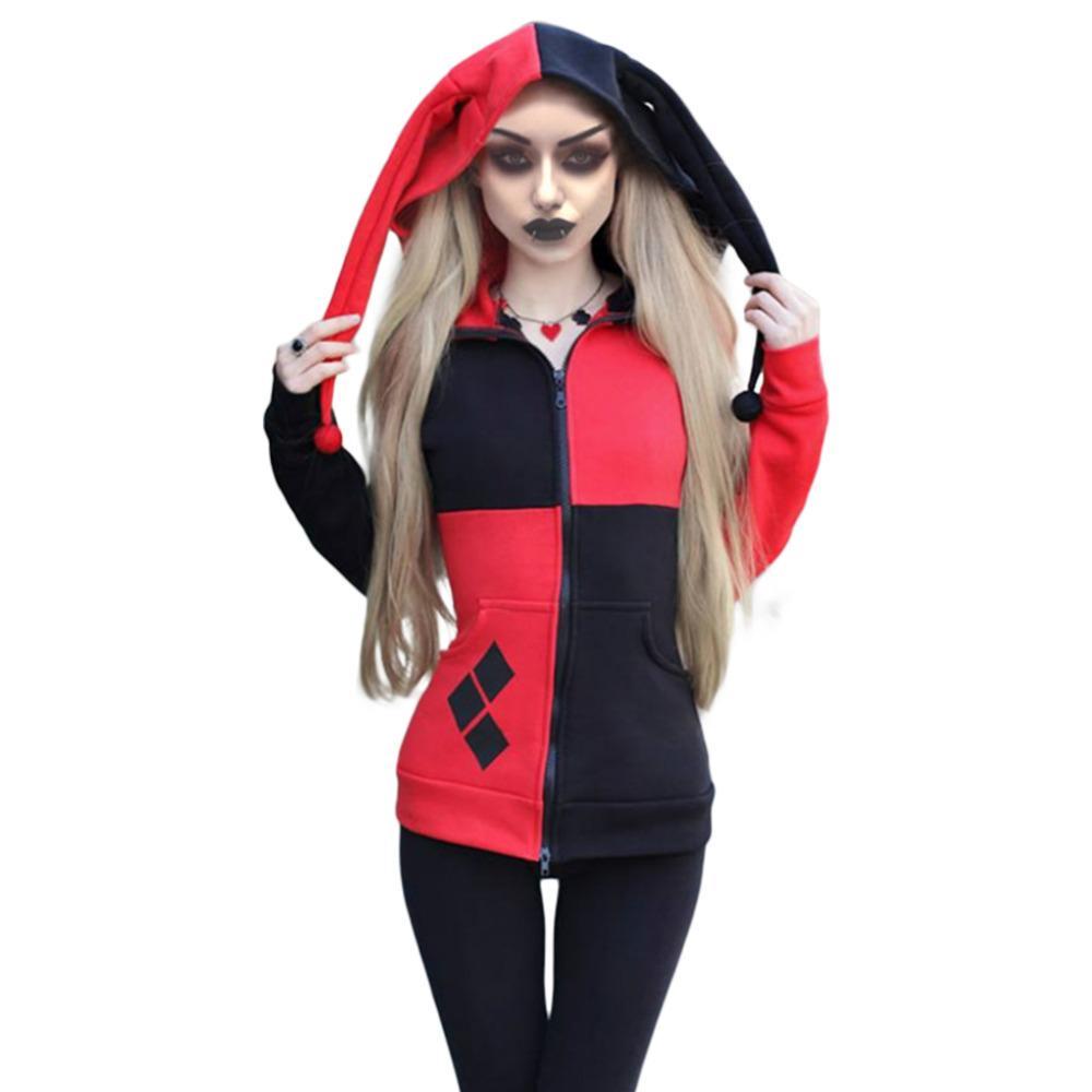 Selbstmord Squad Harley Quinn Hoodie 3D gedruckt Reißverschluss Sweatshirt Hoodie Jacke für Männer Frauen