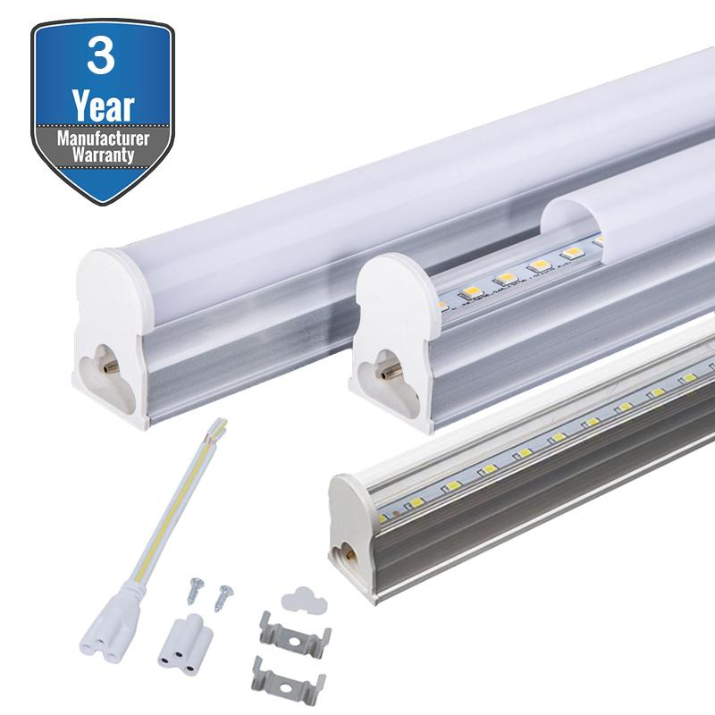 LED T5 Integrated Fixture, LED tube, double-sided connection, T5 T8 Fluorescent Tube Light Fixture Replacement, Led Shop Light