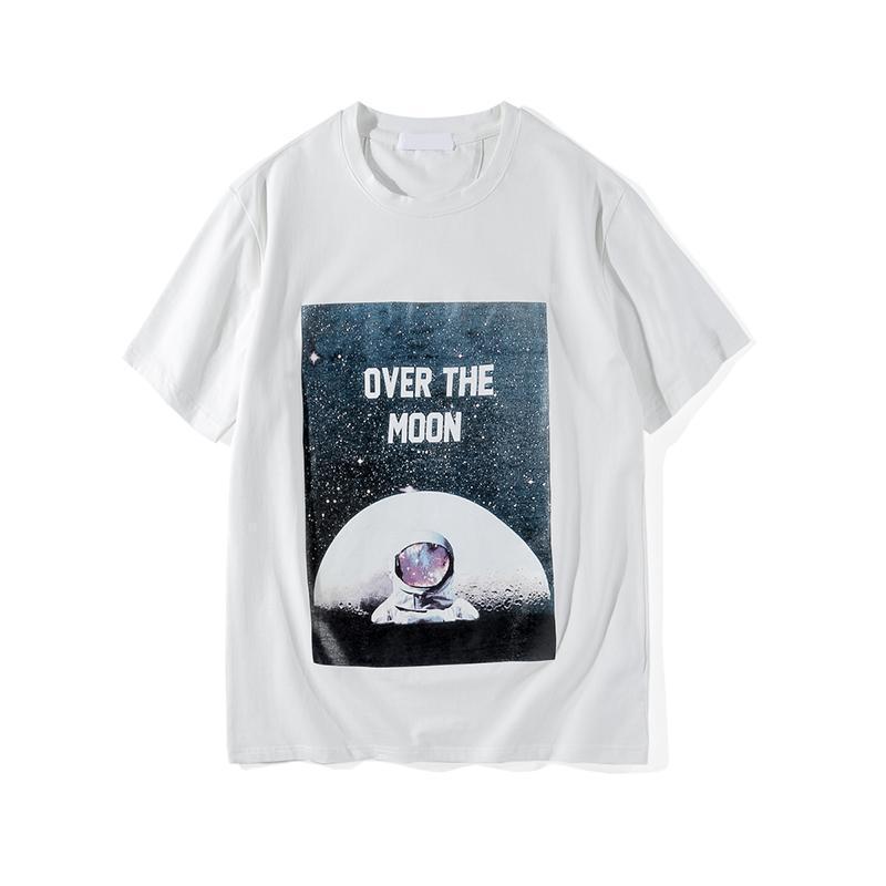 Moda Hombres 19SS diseñador T Shirts Patrón mujeres de los hombres Impreso T Shirts Hip Hop Streetwear unisex de lujo de la camiseta del tamaño S-2XL