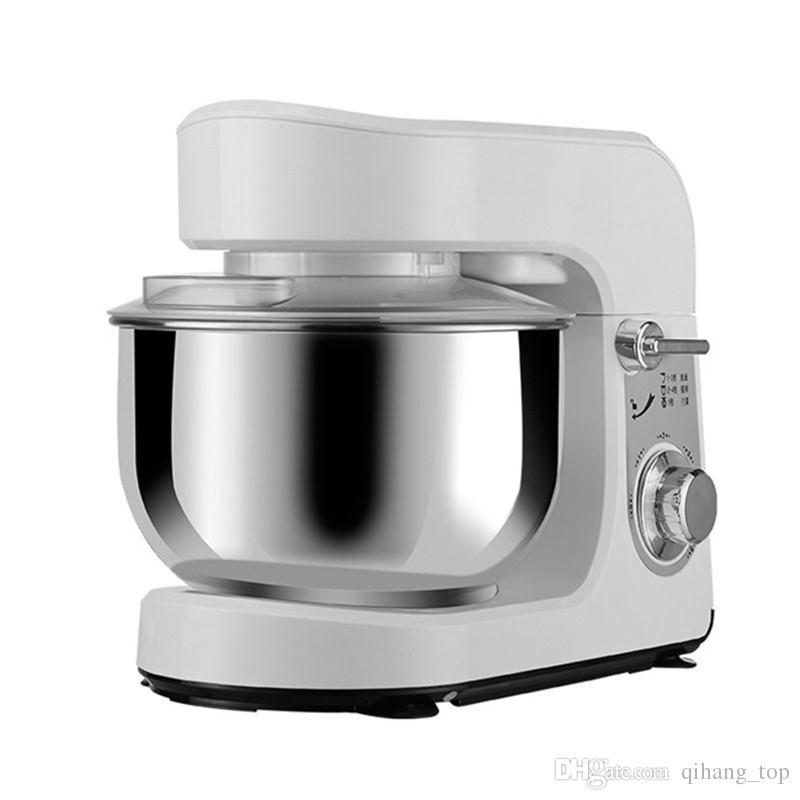Qihang_top 3.5L Elektrikli Hamur Yoğurma Makinesi / Ticari Spiral Ekmek Gıda Mikser / Un Hamur Karıştırma Yumurta Çırpıcı