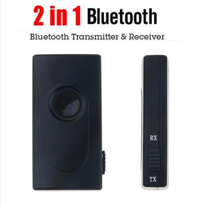 2 in1 Bluetooth Transmitter Receiver Car Kit 3.5mm Stereo Wireless Music Audio Cable Dongle V4.2 Adapter for TV Mp3 Player
