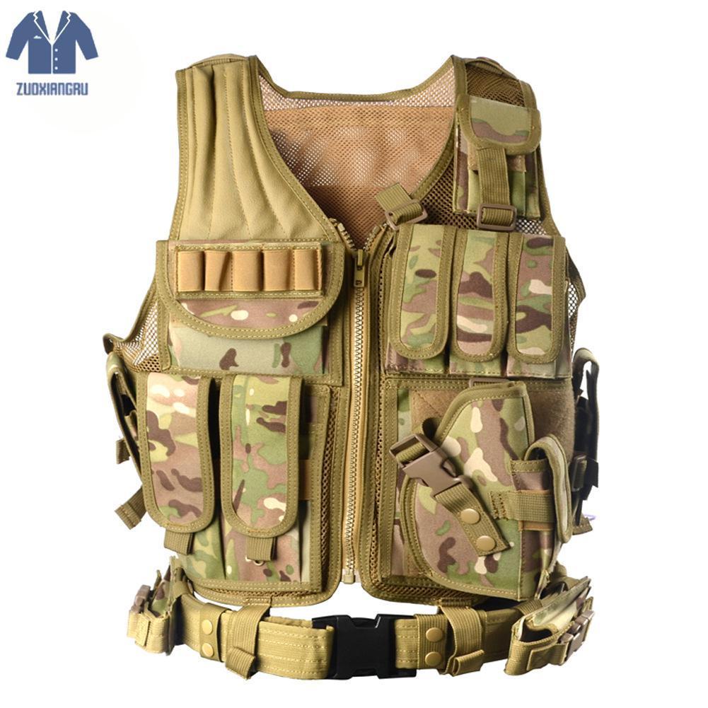 Zuoxiangru scarico tattici di combattimento Uomini Vest Tactical Army Fan Camouflage corpo della maglia Cs Jungle Attrezzature Jacket