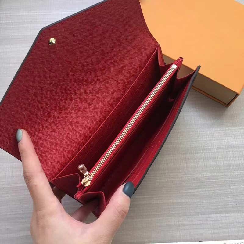 Womens Holder Wallet M60531 Longo Moeda Carteira Bolsa Designer de Marca Senhora Zipper Red Bag Designer Bolsa Cartão De Bottoms Bolsas De Embreagem Luxo NKCEF