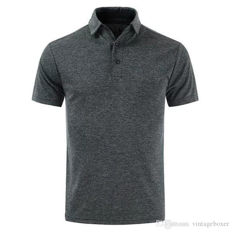 Erkek Yaka Yaka Kısa kollu tişörtleri İnce Spor Erkek Tasarımcı Polos Golf Katı Erkek Erkek Giyim Tops