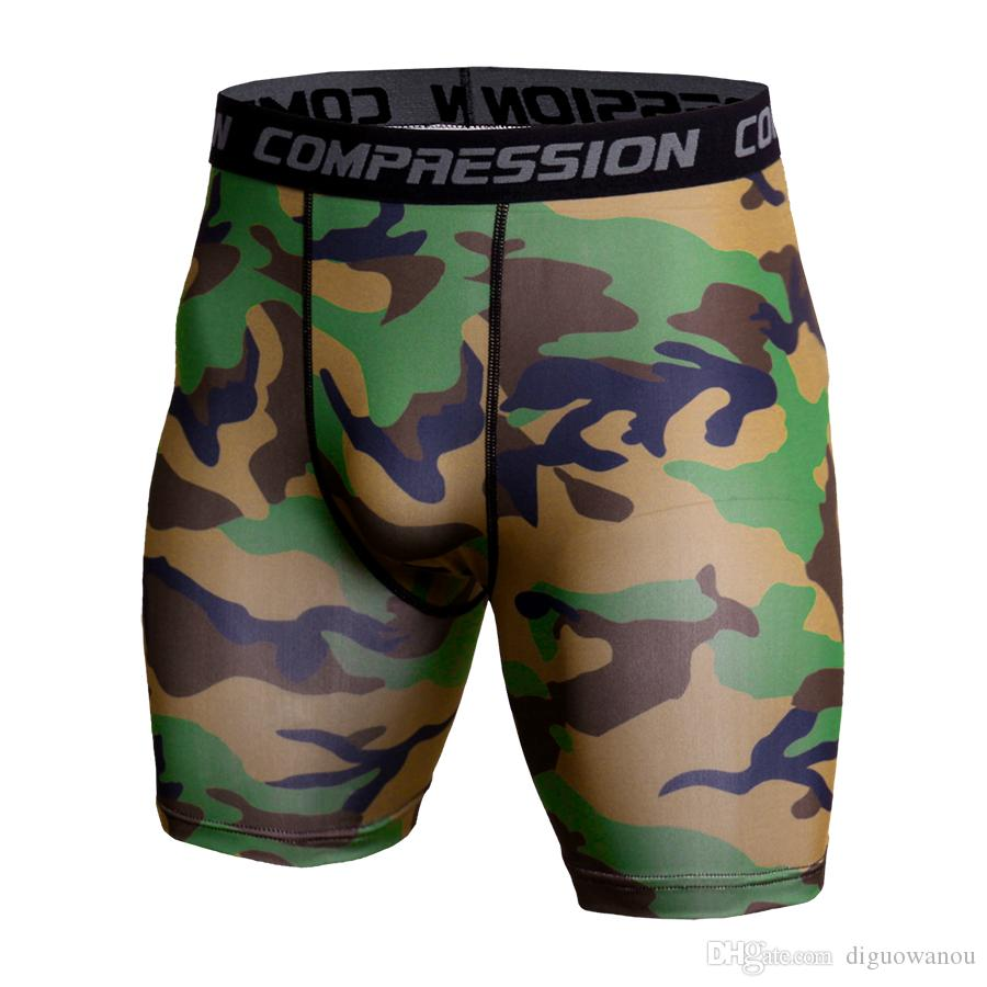 Gym Short Leggings Men Compression Crossfit Shorts Mens Running Shorts Camouflage Bermuda Shorts Jogging Bodybuilding Tights MMA