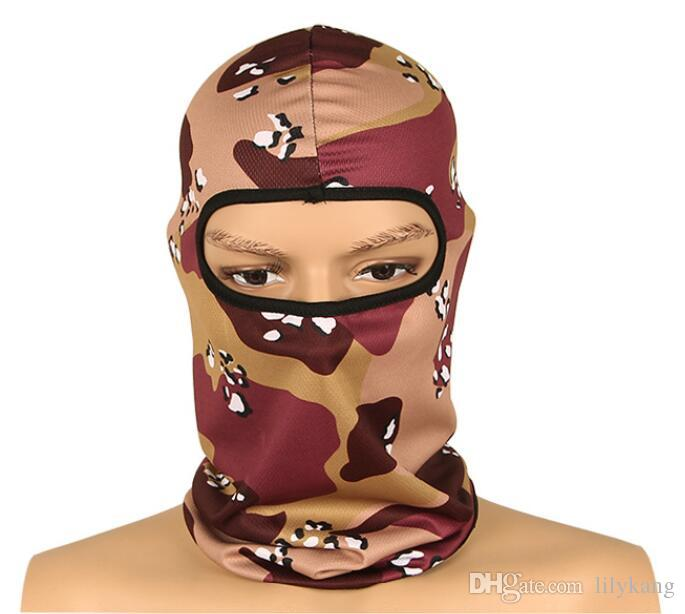 New Camouflage Face Mask Bicycle Riding Outdoor Sports Bike Caps Hats Cycling Protective Gear outdoor dustproof Balaclava masks