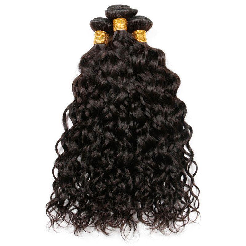 9A brasiliano indiano malese onda d'acqua peruviana vergine dei capelli umani tesse fasci umidi e ondulati estensioni dei capelli umani colore naturale