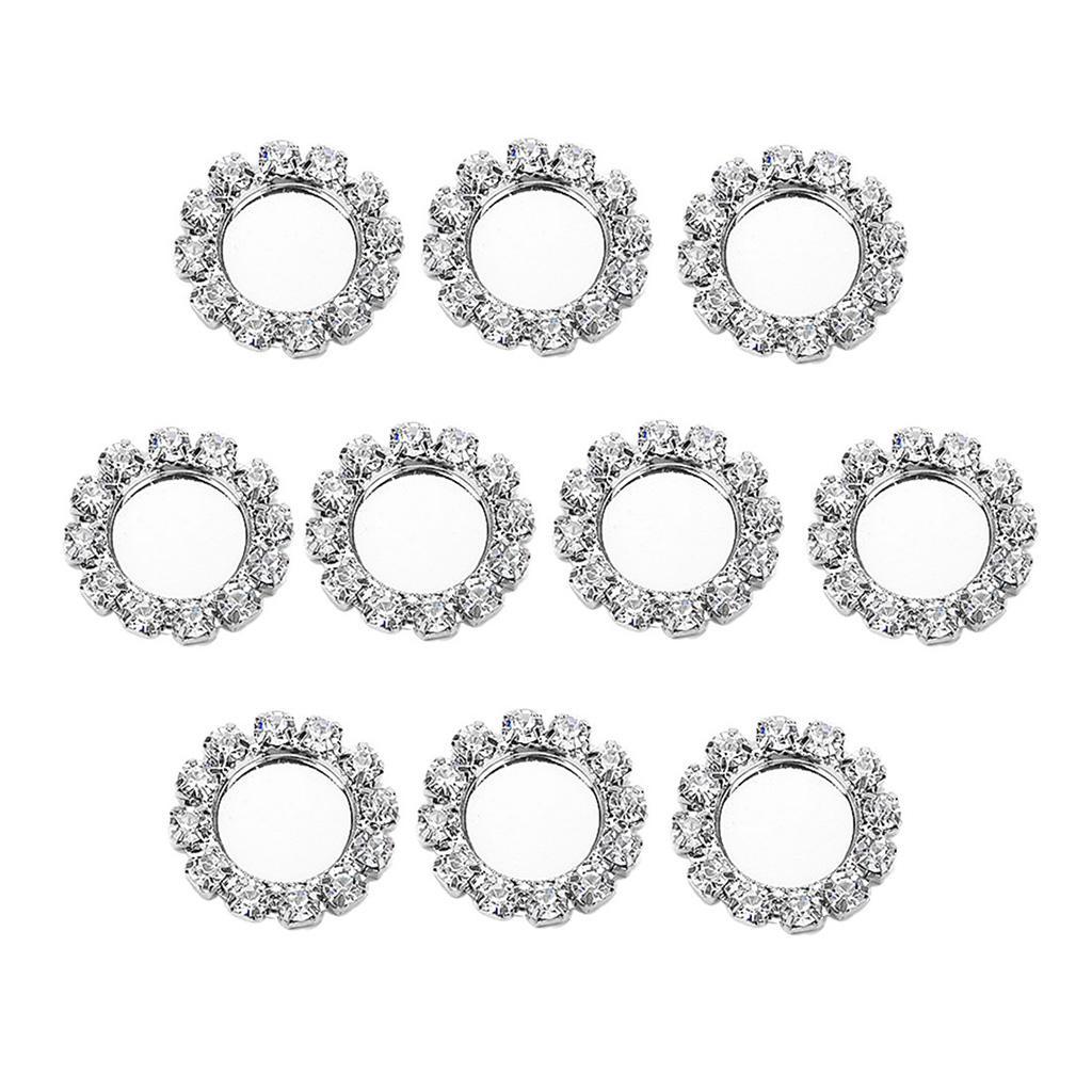 10pieces DIY ювелирных аксессуаров Diamante медные ювелирные изделия Настройка базы поддержки 8 мм кабошон пустой лоток серебряный цвет