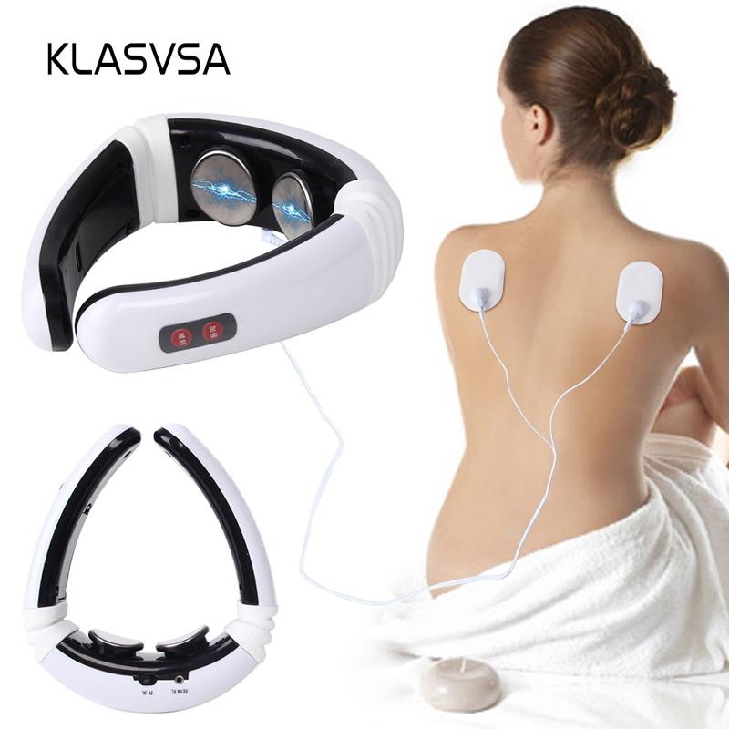 wholesale Electrode Pads Pulse Cervical Neck Massager Acupuncture Stimulator Wire Tens Physical Therapy Device Health Care Muscle