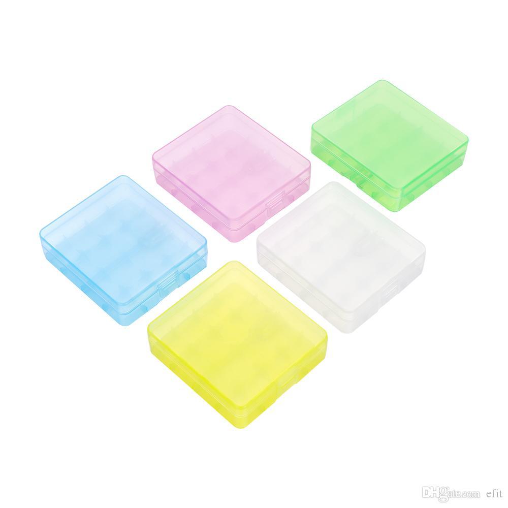 랜덤 컬러! 3 Stytles 하드 저장 상자 하드 플라스틱 배터리 케이스 커버 홀더 18650 16340 휴대용 배터리 컨테이너