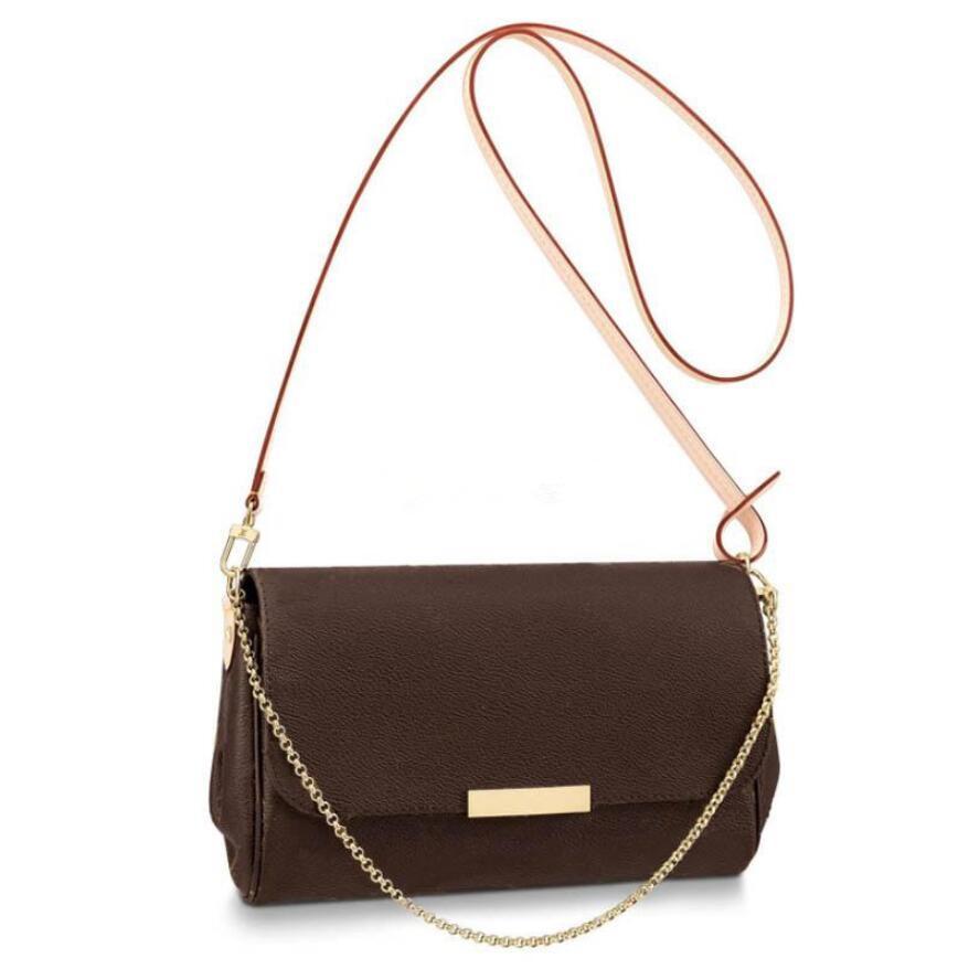 2020 donne cuoio genuino di alta qualità di modo tote le borse Chain Shoulder Bags borsa crossbody con il sacchetto di polvere 40718