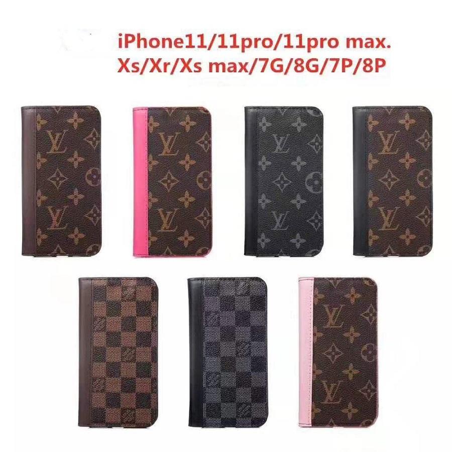 Flip Phone Cases Wallet pour iPhone 11 XR Pro XS Max X 7 8 Plus iPhone11 pas cher cas avec fente pour carte
