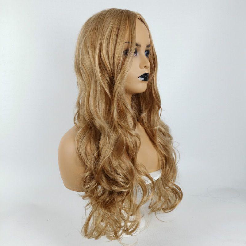 Peloso Pre pizzico Frontal del merletto parrucca Remy Capelli mossi parrucca anteriore del merletto Human Wig forwomen
