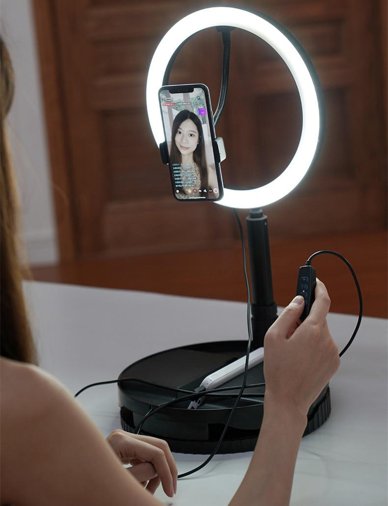 luz de preenchimento vivo estande 1,6 metros telescópica portátil sem desmontar LED âncora suporte de beleza selfie