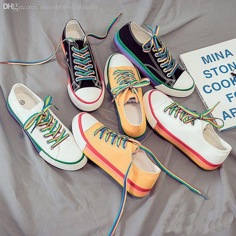 Sapatas de lona Mulheres boa qualidade Multicolor Plano Lazer Casual Correndo Ourdoor Desporto Caminhadas Moda Pato de mandarino Shoes