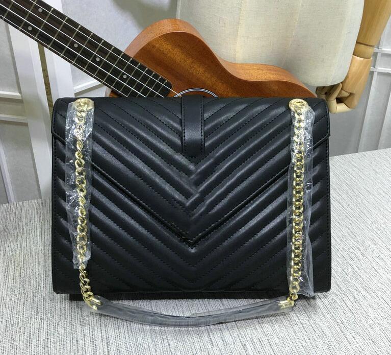 vendas Hot Style mais novo da forma das mulheres bolsas de couro cadeia de ouro envelope sacos de ombro Y # 18 têm Poeira sacos de Carteiras