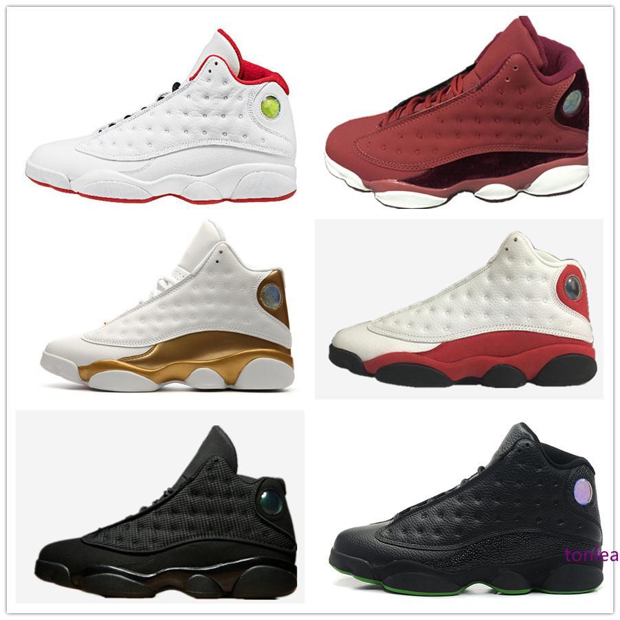 13 баскетбол обувь кроссовки разводили история полета Черный кот Чикаго игры DMP серый ног баронов Разводят мужчин женщин Спортивная обувь