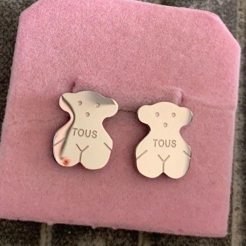 New cute 18K silver rose gold 316L stainless steel Ear Stud Earring Wedding Jewelry for Women girls spain jewelry Free Shipping