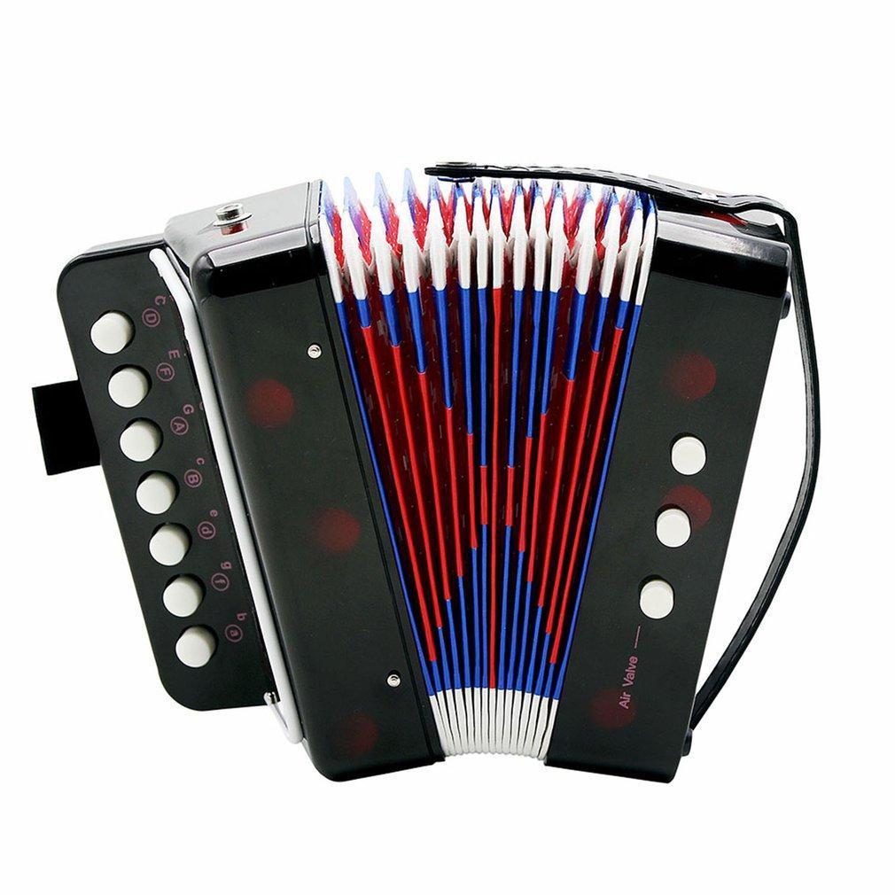 Mini Kids Accordéon 7-Key 3 Pratique Débutant Basse éducation pour enfants Instrument de musique Band Toy Hot Vente Dropshipping