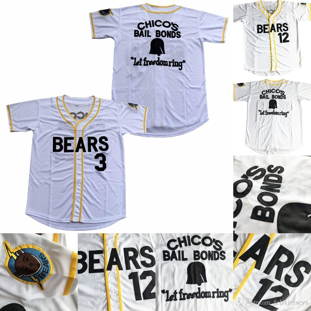 Bad News 베어스 # 12 Tanner Boyle 3 켈리 누출 영화 1976 Chico 's Bail Bonds Baseball Jerseys 무료 배송