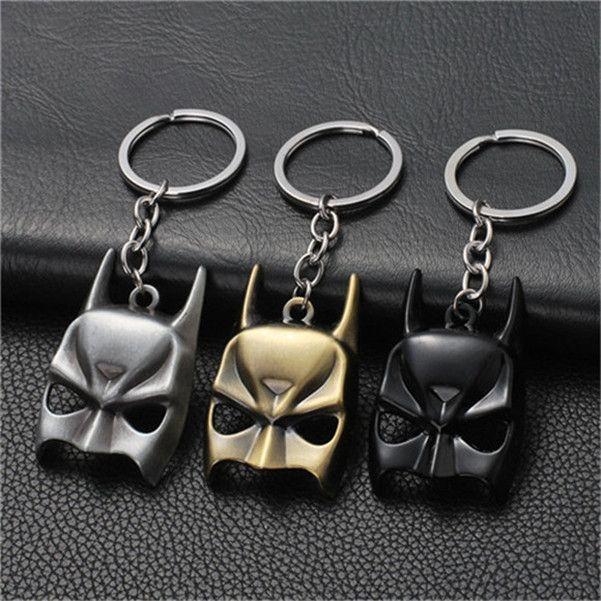 17 styles Superohero Batman Movie Metal Keychain Avengers Bat Man Logo Key Chain Keyring Anime Figure Pendant Key Holder Xmas Trinke jssp01