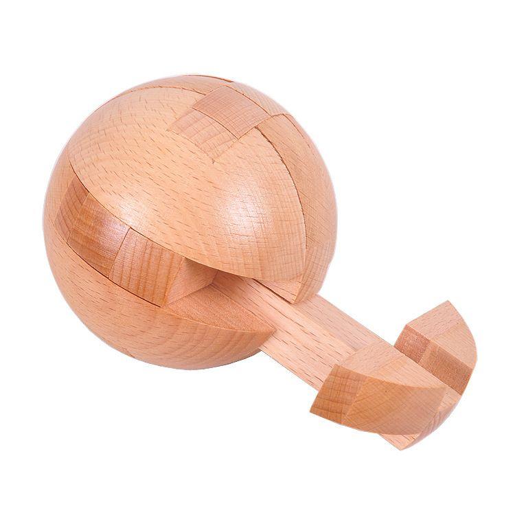 Bola Quebra-cabeça Adulto de madeira Brinquedos Educativos Classical Toy Burr enigma Luban Building Blocks esférico de bloqueio