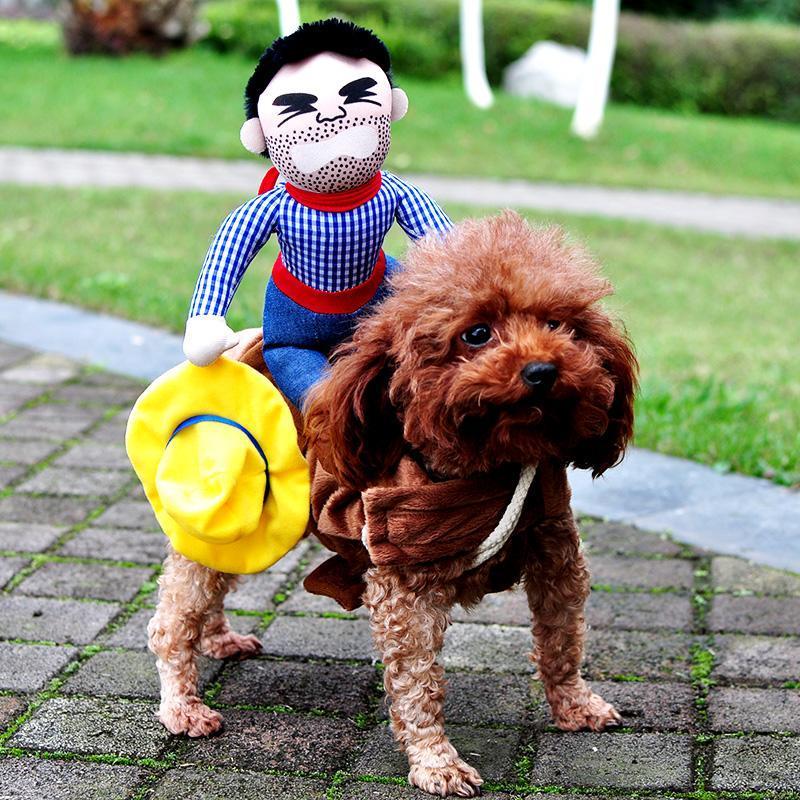 Yenilikçi Cadılar Bayramı Köpek Kostümler Pet Giyim Kovboy Köpekler Komik Fransız Bulldog Chihuahua Giyim Ceket Palto Giydirme