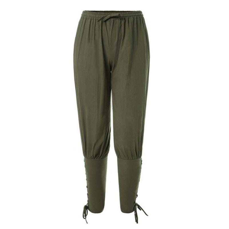 CHRLEISURE Pantalons simple solides Harem Hommes Printemps ample Crayon Pantalons hommes taille élastique respirant Sport