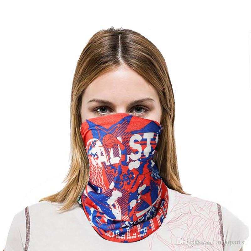 Protección UV a prueba de viento máscara facial Escalada Senderismo Pañuelos Wraps Headwear al aire libre Pesca Ciclismo camuflaje Bandan