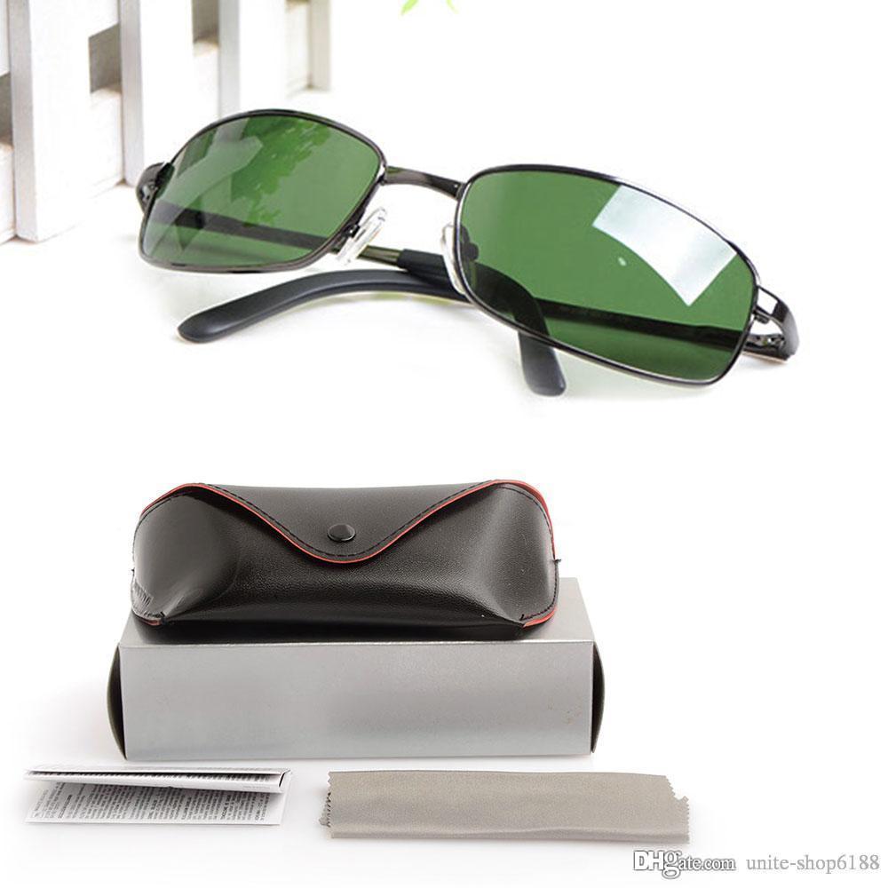 High Quality glasses Brand Designer sunglasses Mens Sun glasses Glass lens Classic Women's sunglasses Metal glasses with Original cases boxs