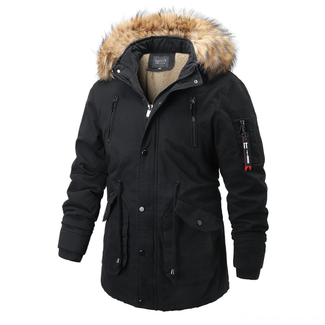 Cappotto Abbigliamento Fleece Cappotti Capispalla Moda inverno 2019 rivestimento dei nuovi uomini casuale cappotto caldo del parka MediumLong ispessimento degli uomini