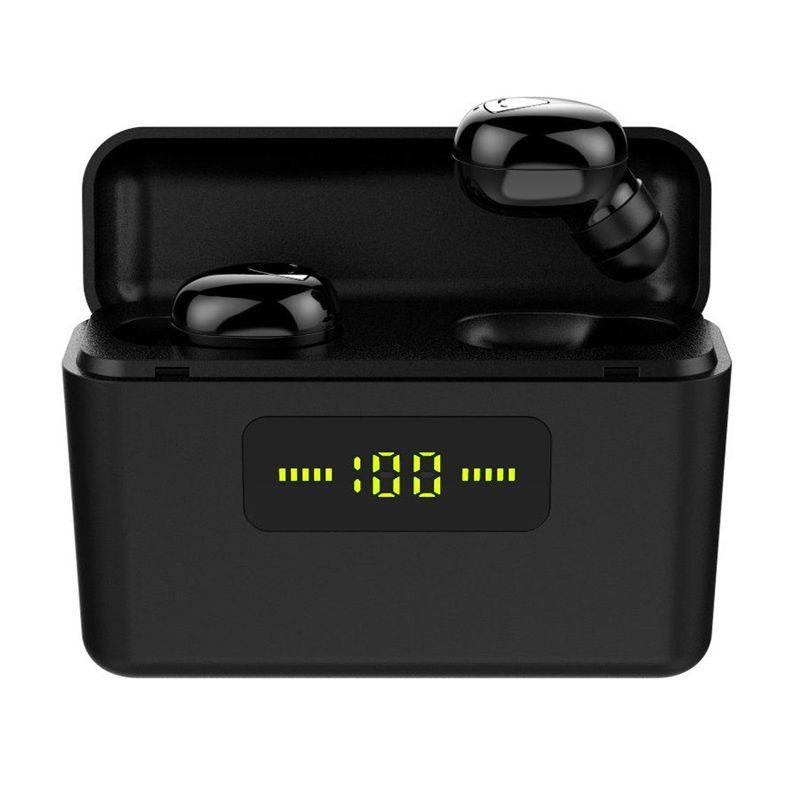 بلوتوث اللاسلكية سماعات IPX5 ماء العرض الرياضة سماعة الطاقة الرقمية الرياضة في الأذن سماعات الأذن سماعة الألعاب مع الشحن مربع