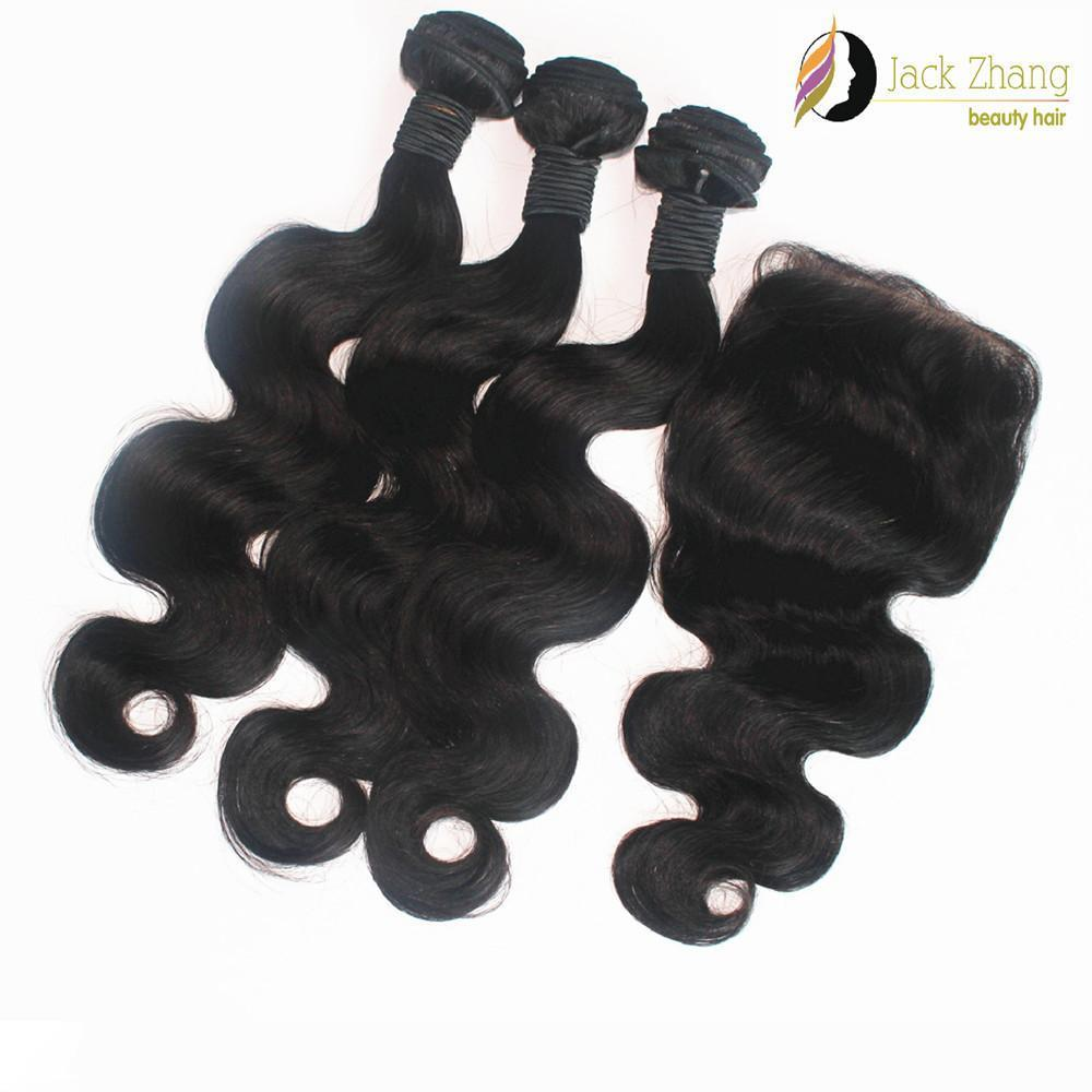 8A Cuticle Mongolian Hair Weave 10-28inch Buy 3 Get 1 Free Lace Closure Vietnamese Burmese Cambodian Body Wave Human Hair Extensions