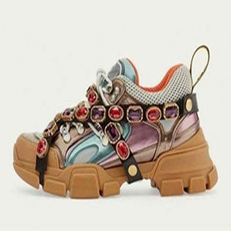 Кристалл цепи вскользь Съемные Crystals женщин кроссовки скальные туфли мужские Открытый сапоги дез Chaussures b12
