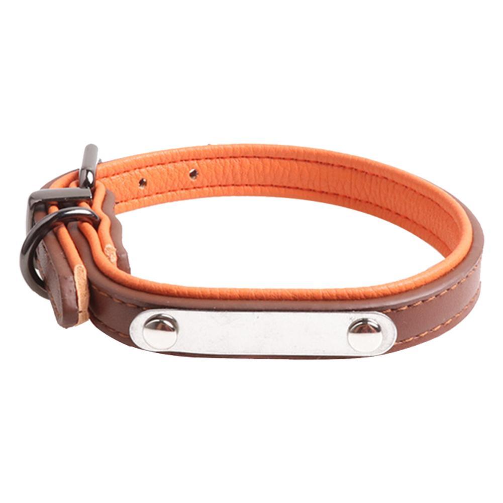 Rein Collar Decoração número Pet Couro Artificial ajustável Dog Use acessórios com Tag gravar o nome Durable Prático