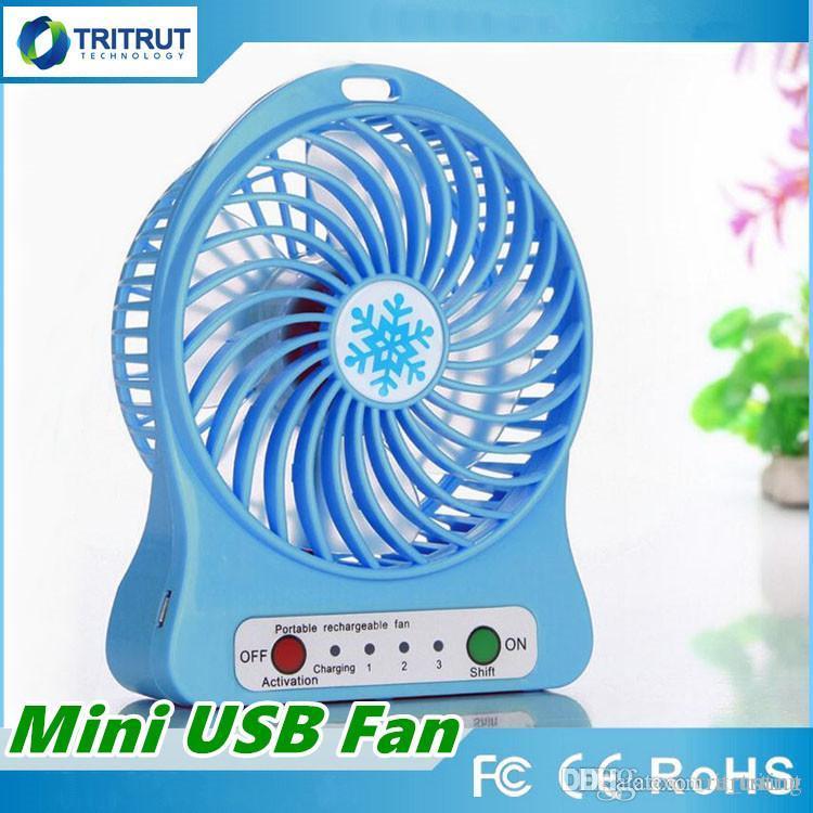 100% Test Şarj Edilebilir LED Işık Fan Hava Soğutucu Mini Masa USB Perakende Paketi Ile 18650 Pil Şarj Edilebilir Hayranları tablet Bilgisayar için MQ30